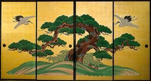 重要文化財 正行寺本堂襖《松鶴図》江戸・寛政期(2008年復元)