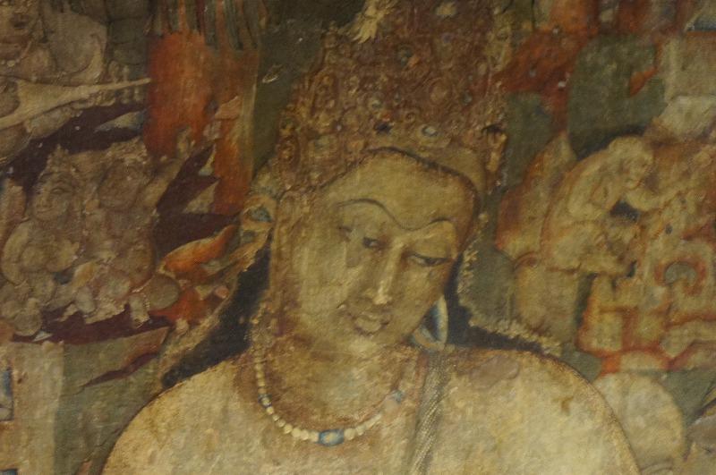 -世界遺産 アジャンタ石窟- デカン高原にありアジャンタは壁画が有名で特に蓮華手菩薩と金剛手菩薩が特に有名です。蓮華手菩薩は奈良法隆寺金堂の観音菩薩のルーツと言われています。